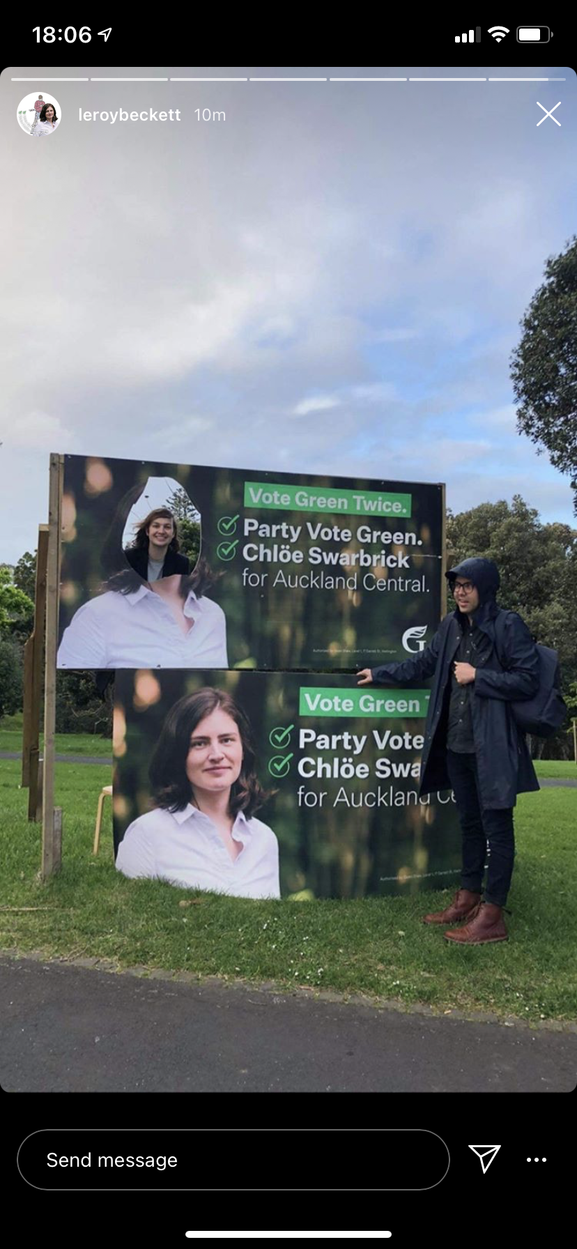 Chlöe Swarbrick for Auckland Central 2020
