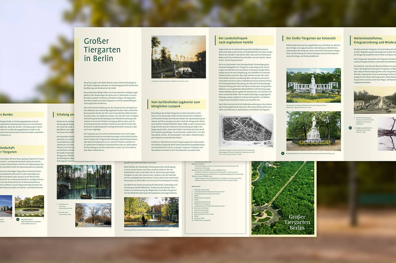 Großer Tiergarten Faltplan