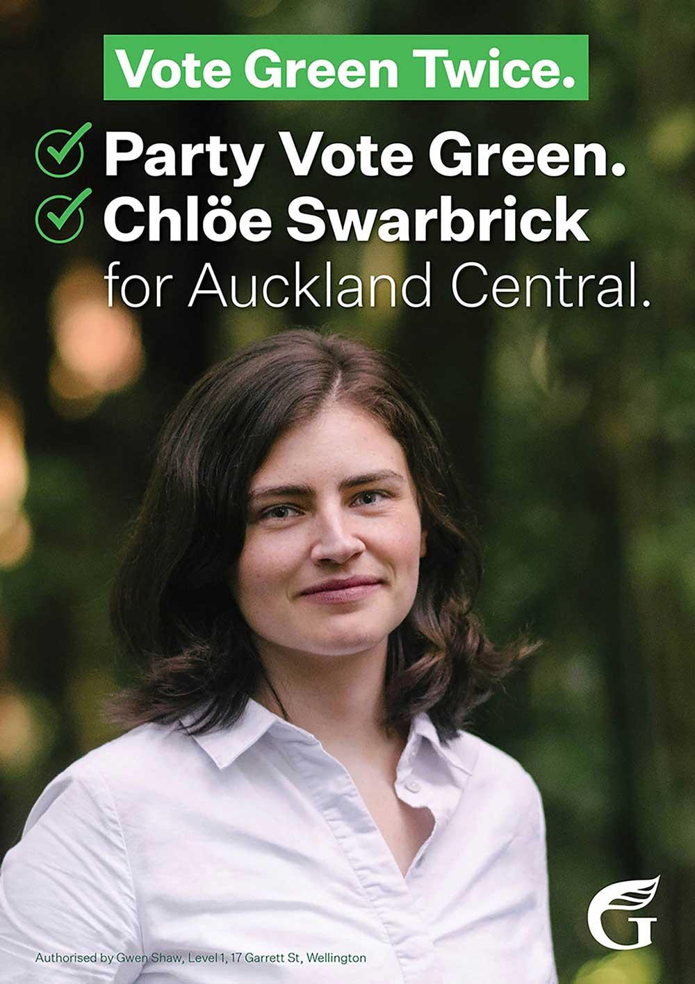 Chlöe Swarbrick for Auckland Central 2020